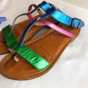 Jeffrey Campbell Havana last Metallic sandal 8 M